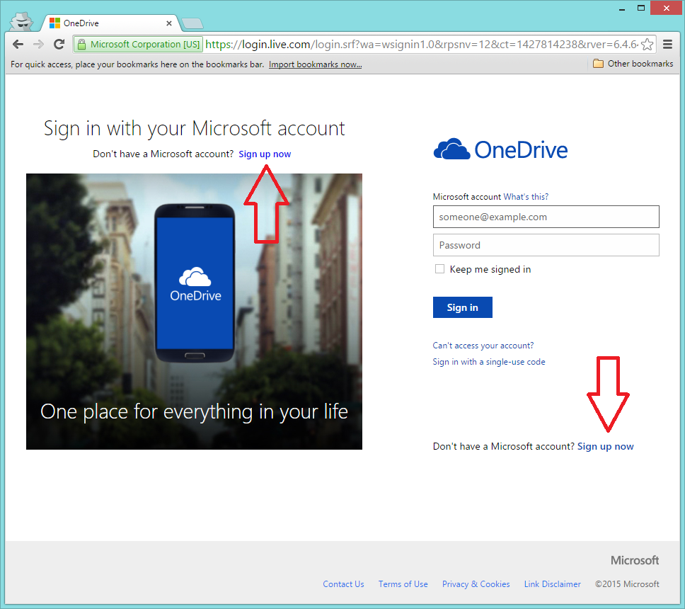 Click on either of these links to create your free Windows Live account.