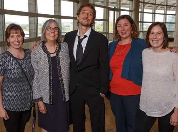 Nic Sheff (center) at the Arapahoe House event in September prior to its unexpected closing in December 2017.