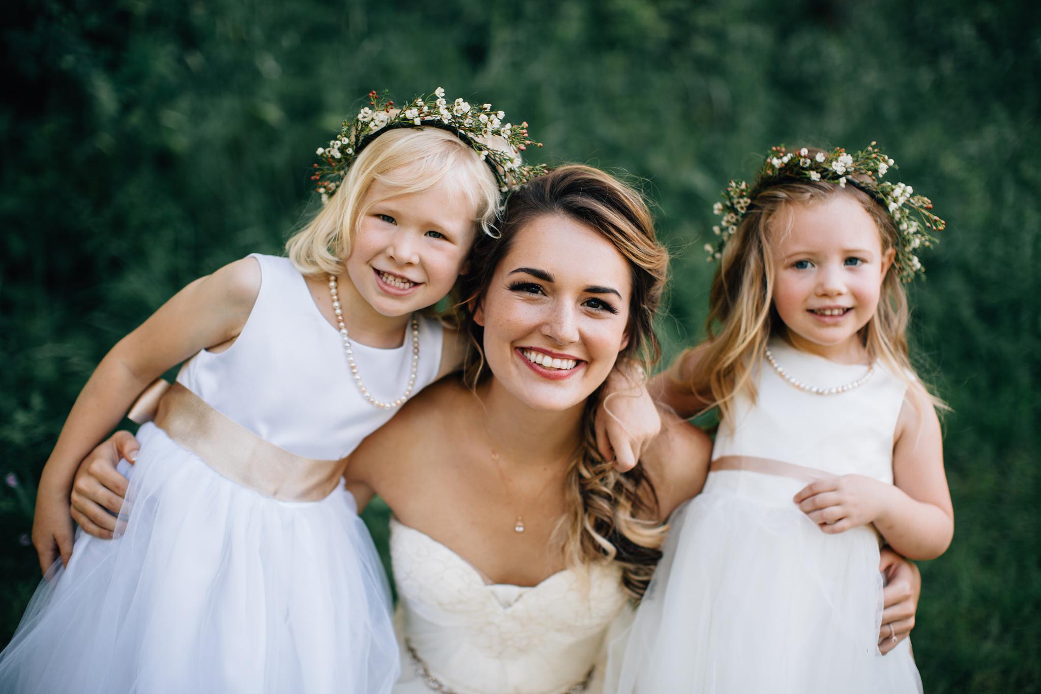 flower girls with flower crowns