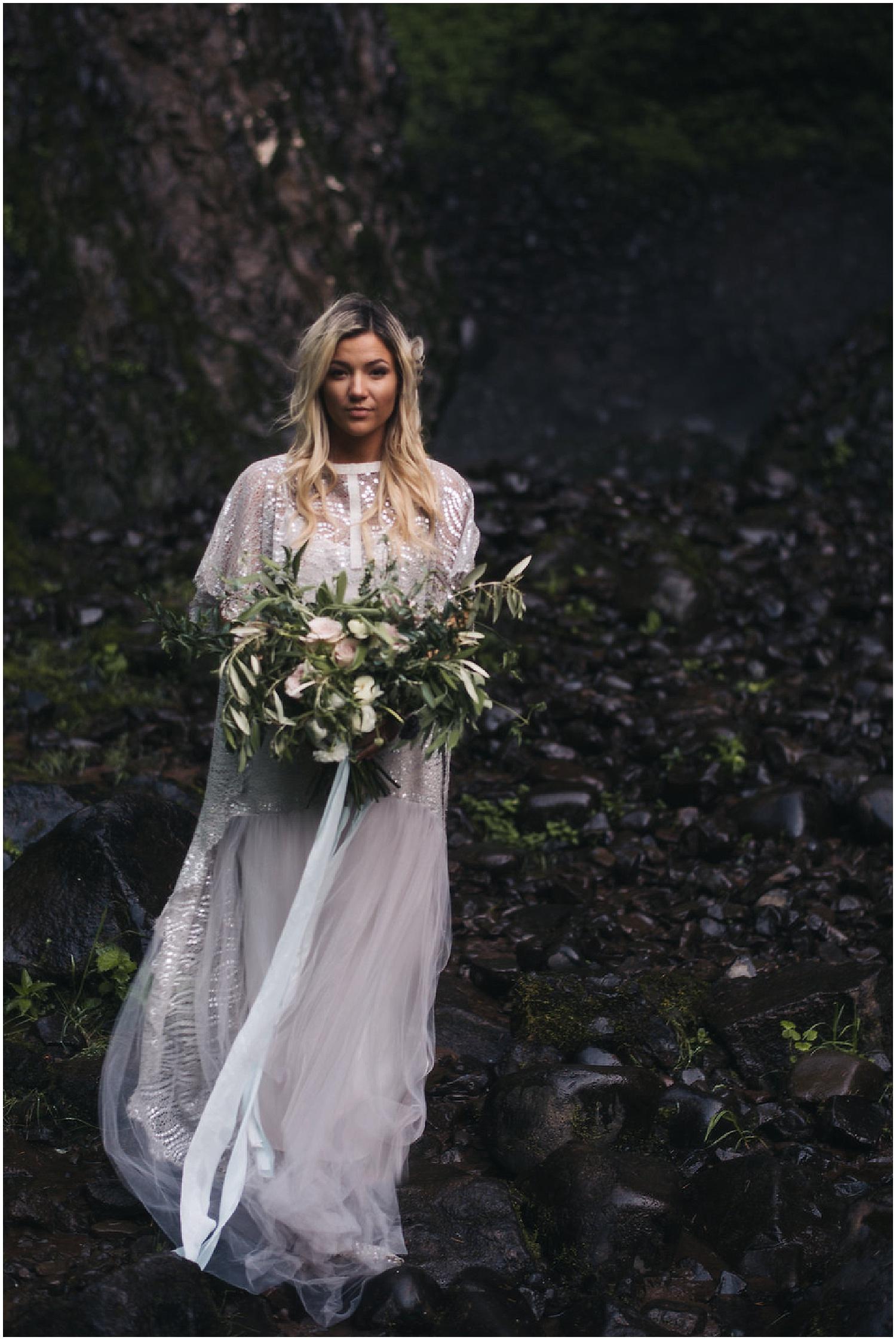 romantic cascading bridal bouquet