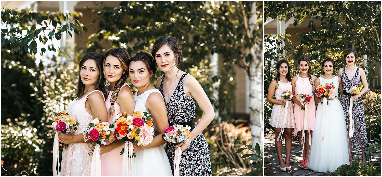 wildflowers and bridal party