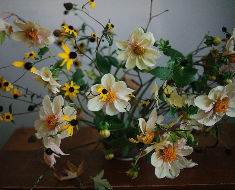 wild floral arrangment
