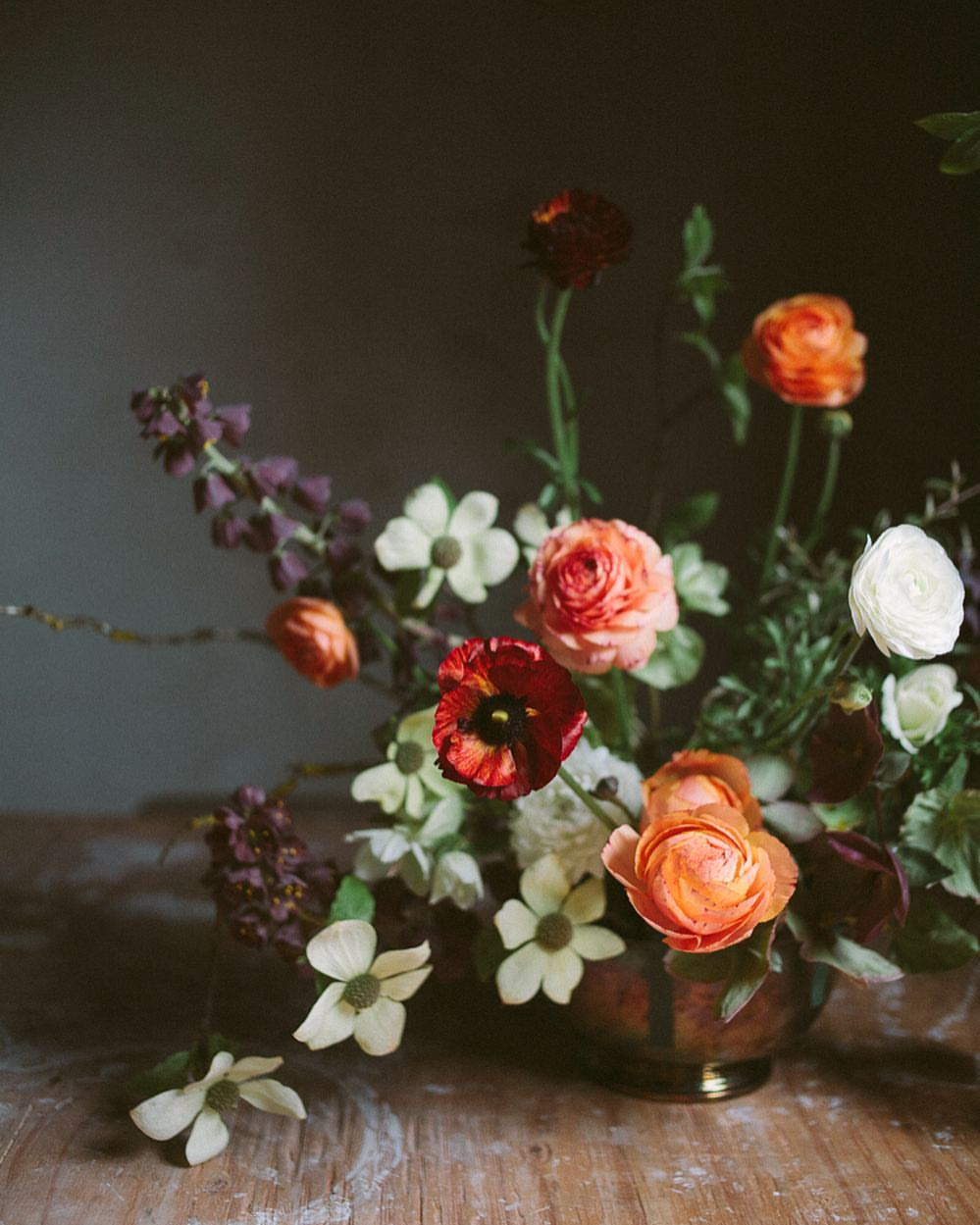 whimsical flower arrangment