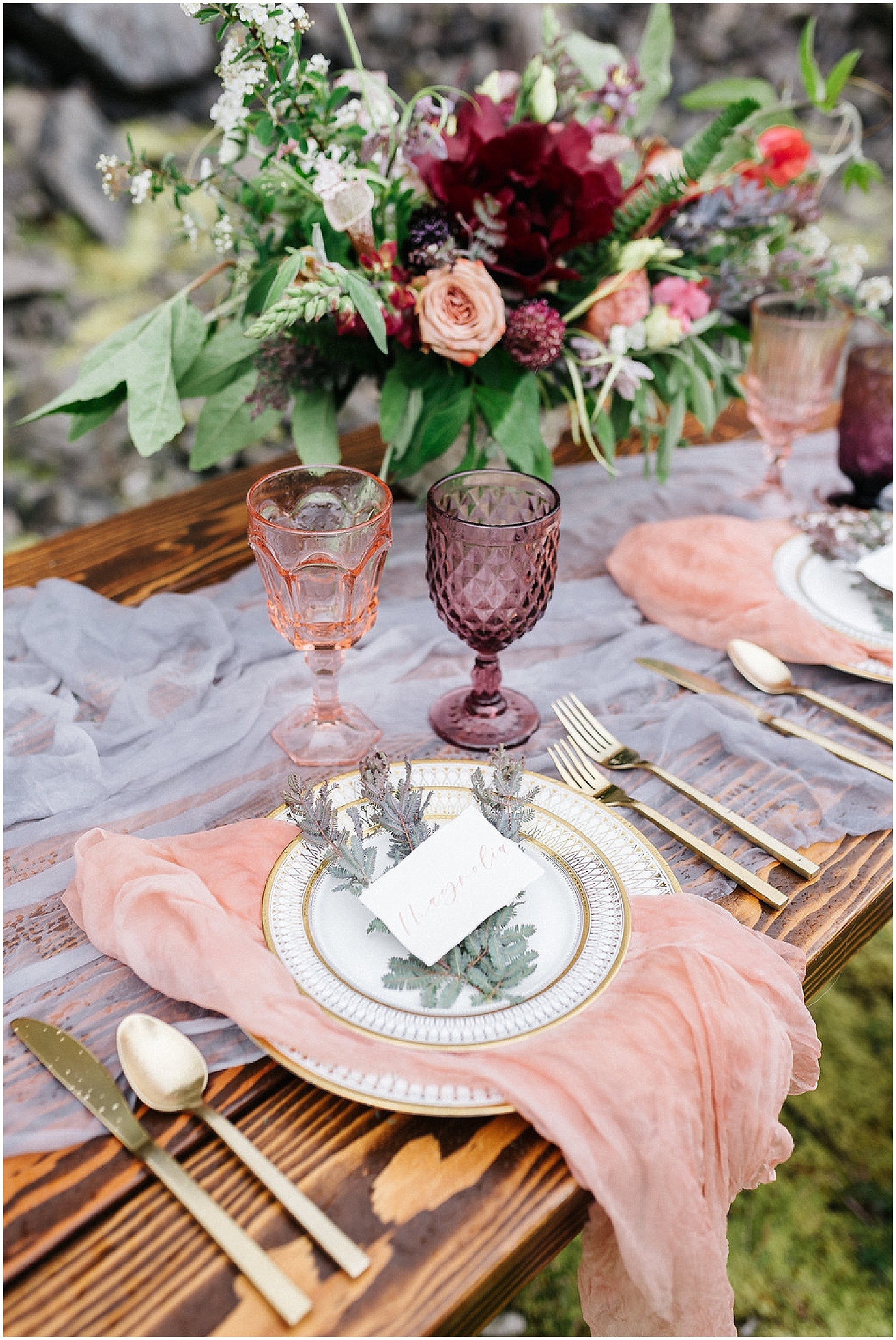 place setting with centerpiece