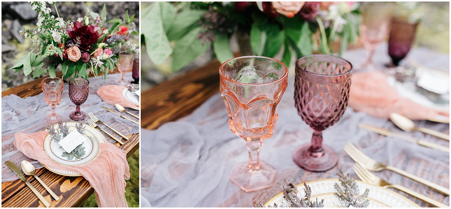 floral centerpieces with place settings