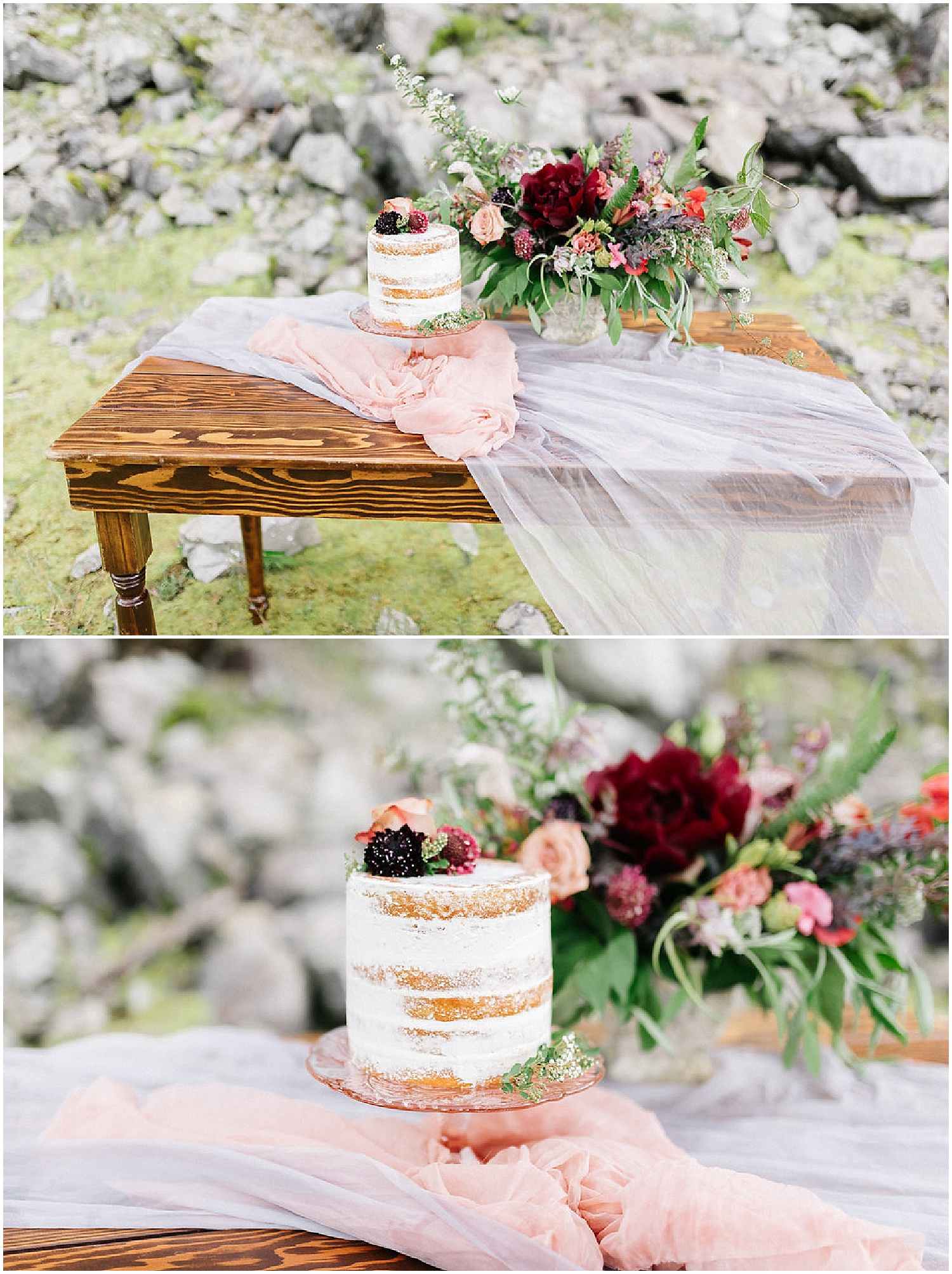 cake florals and centerpiece