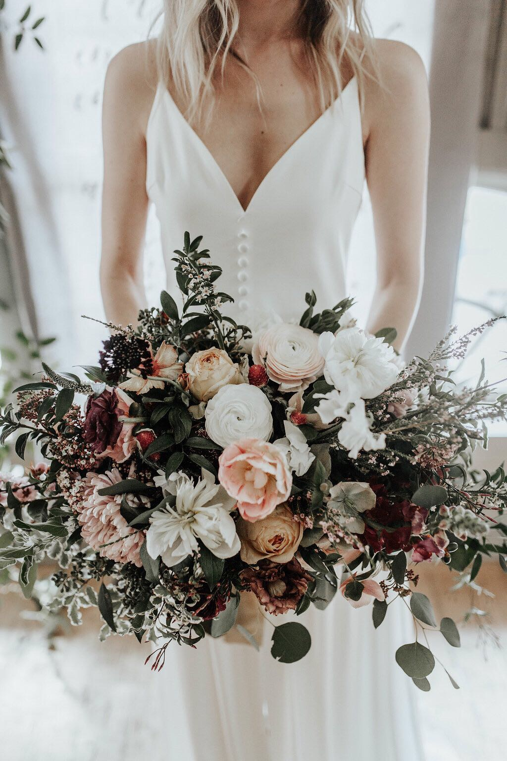 wild and whimsical bridal bouquet