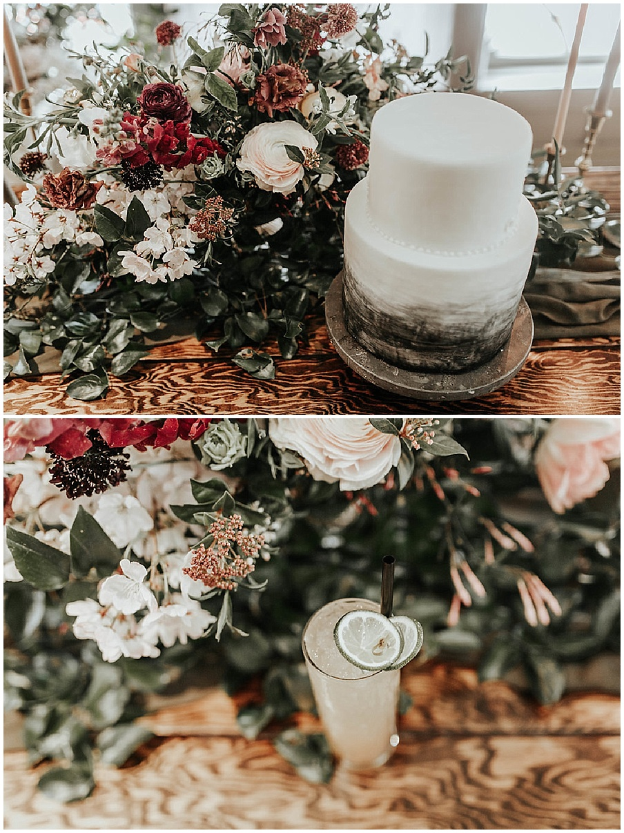 cake florals and drink florals