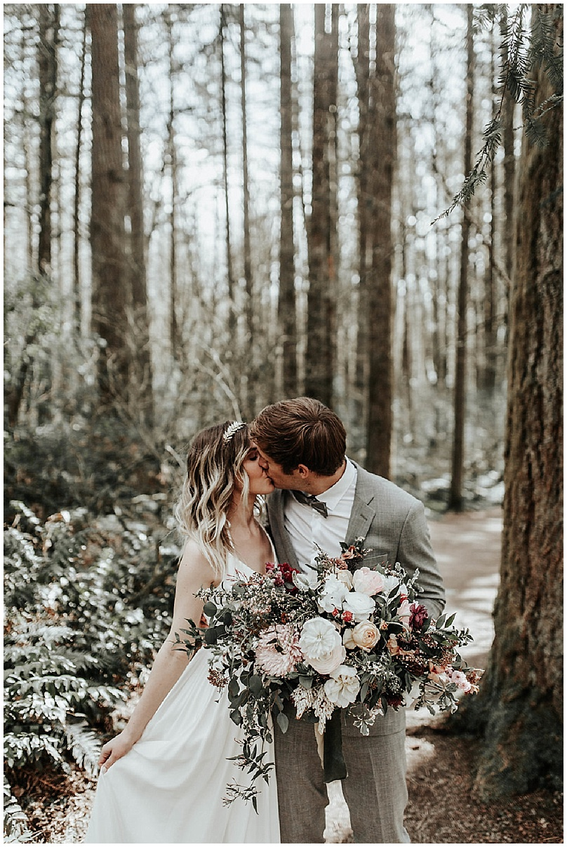 floral bouquet in the forest