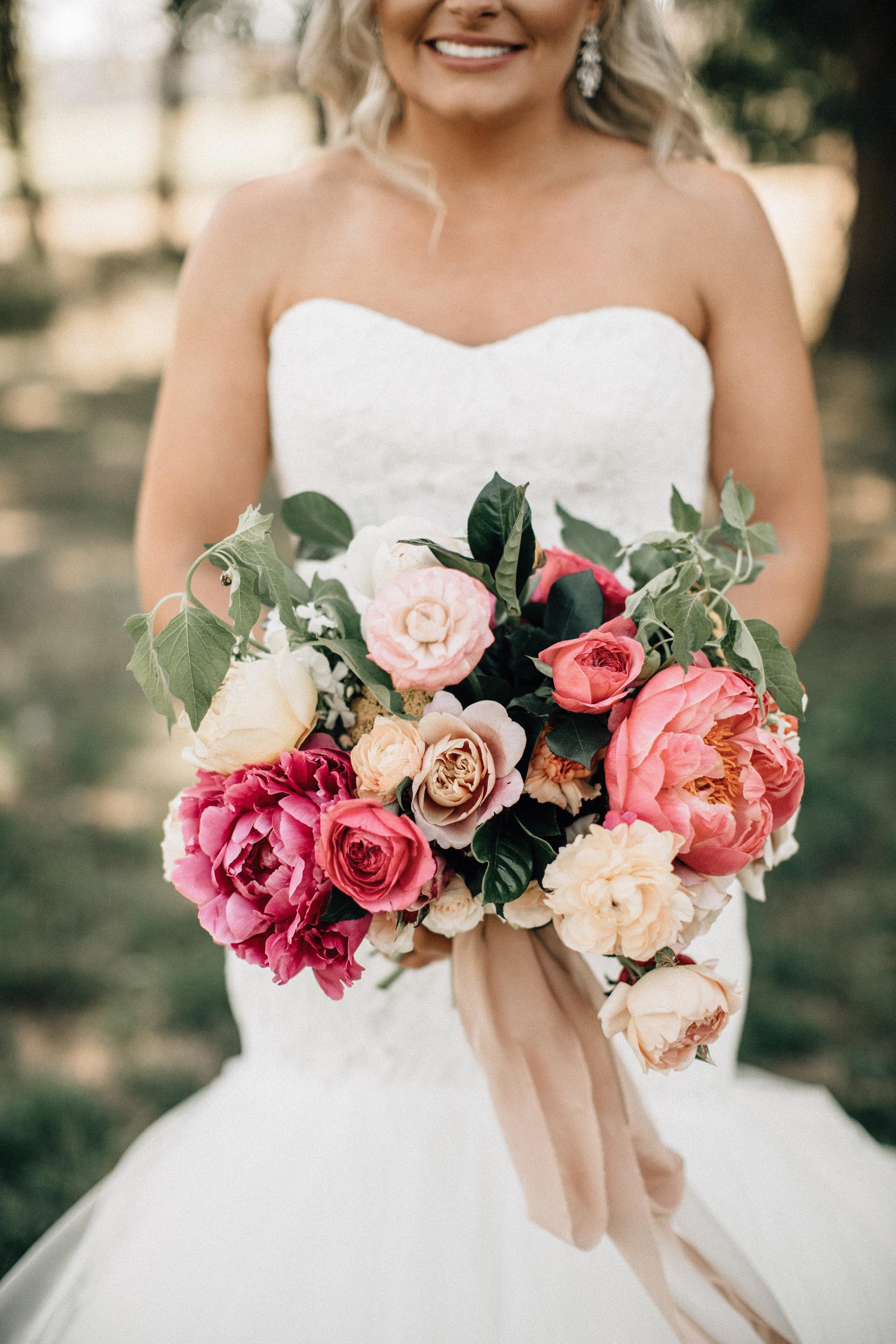 peony heavy wedding flowers