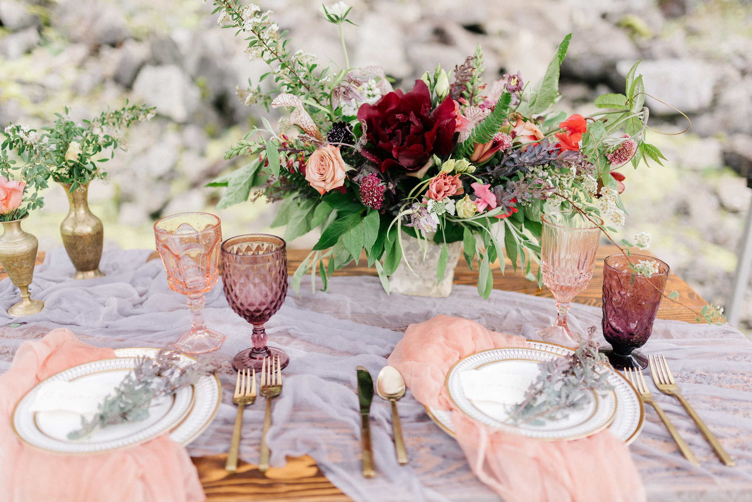 wedding flowers in a basket