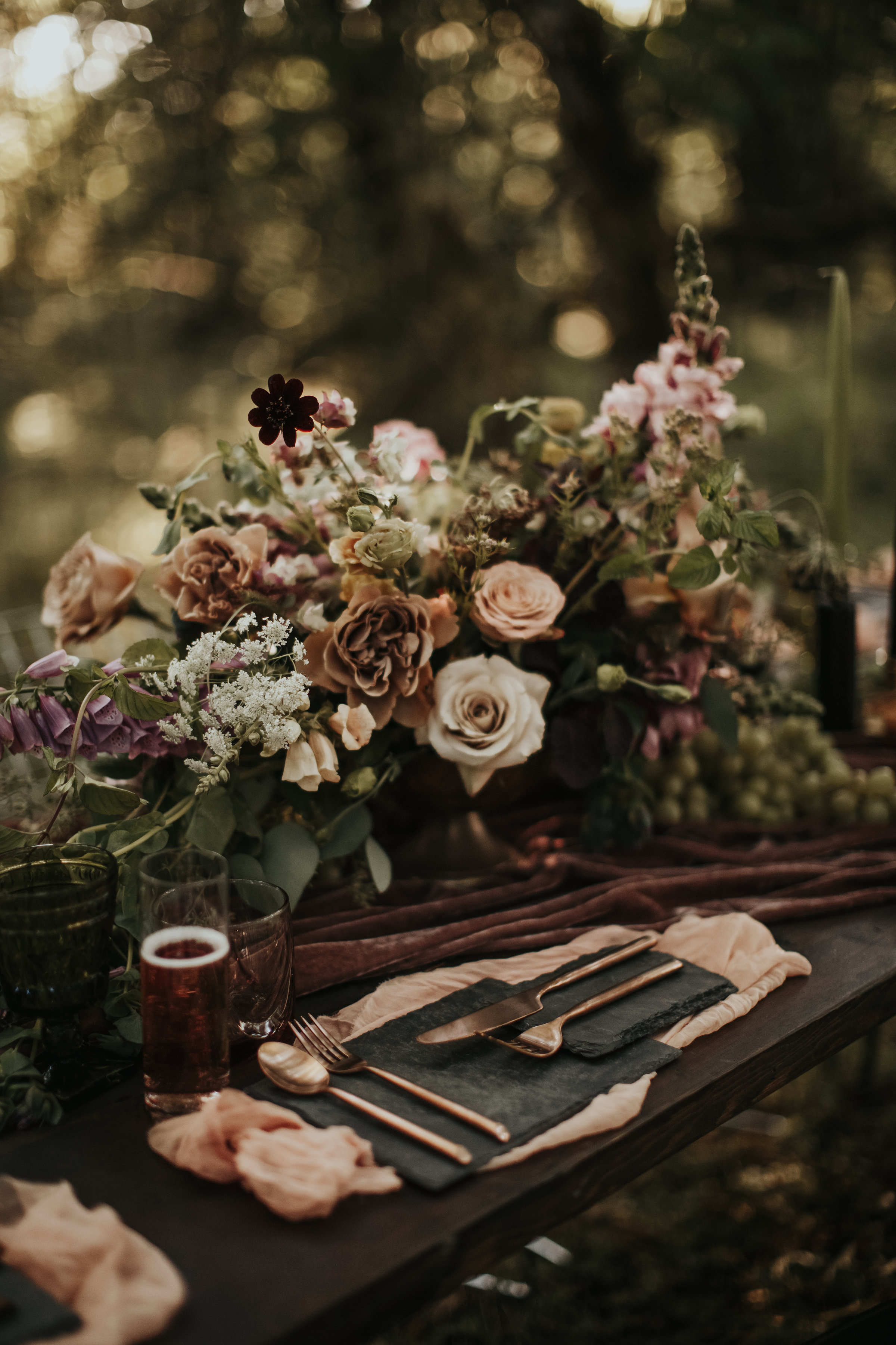 deep forest florals