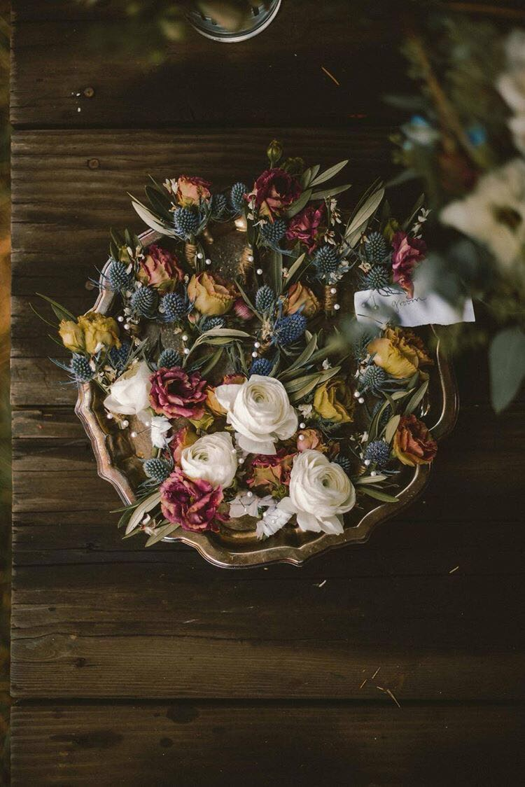 berries in a boutonniere