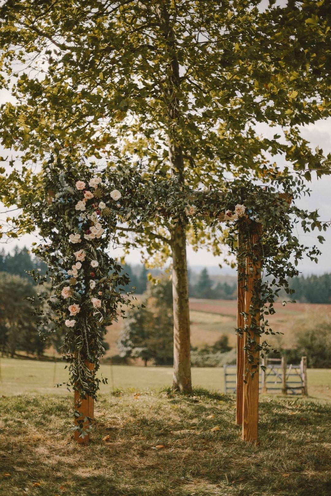 wedding floral arbor