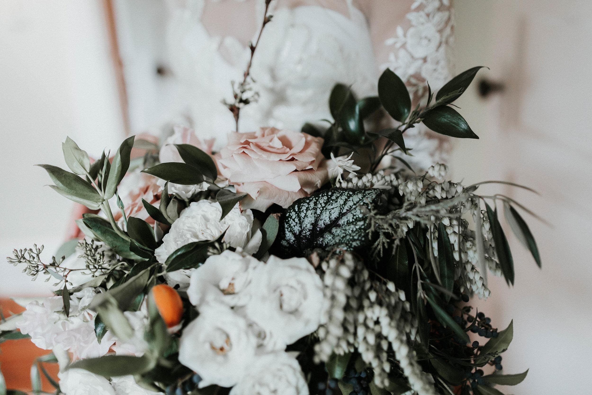 industrial wedding bouquet