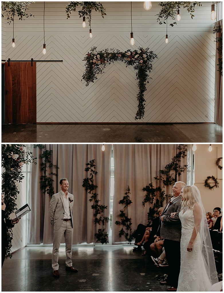 wedding arbor with flowers