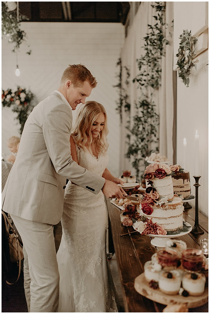 cake florals and greenery
