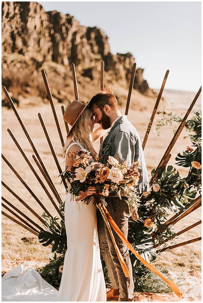 wild wedding backdrop