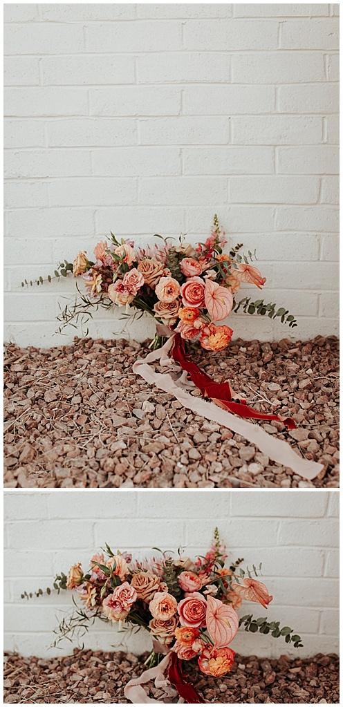 high desert wedding bouquet