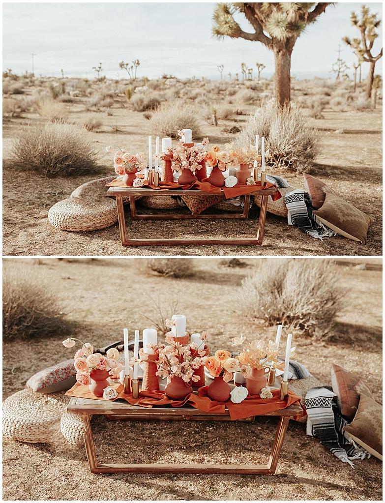 high desert wedding photo