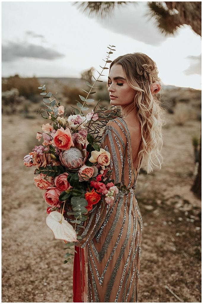boho cascading bridal bouquet