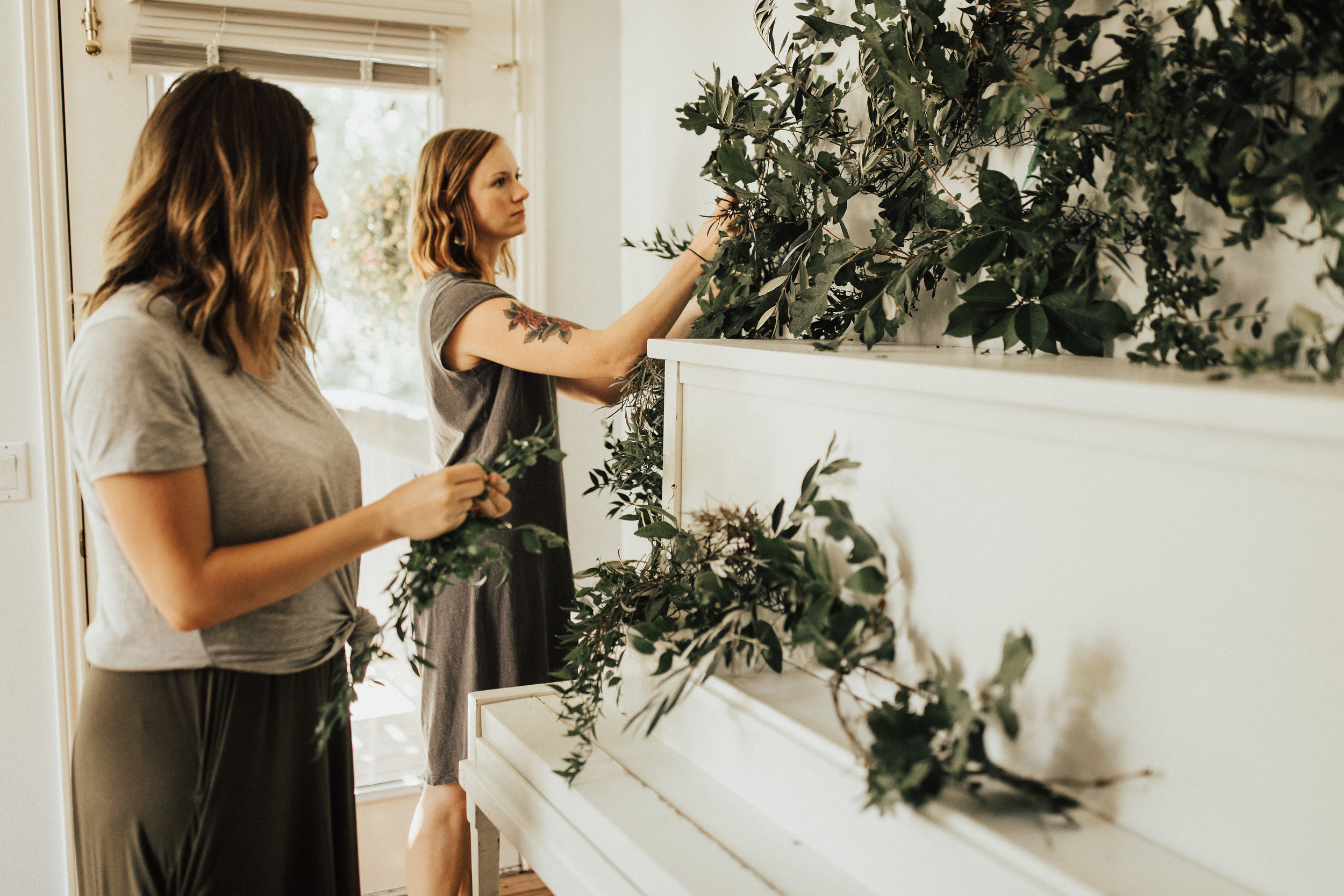 building a greenery installation