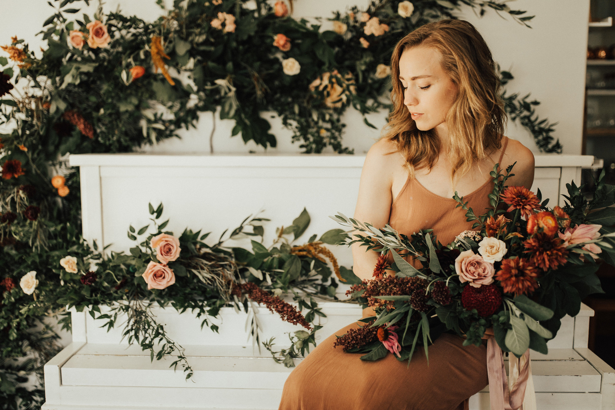 modeling with flowers