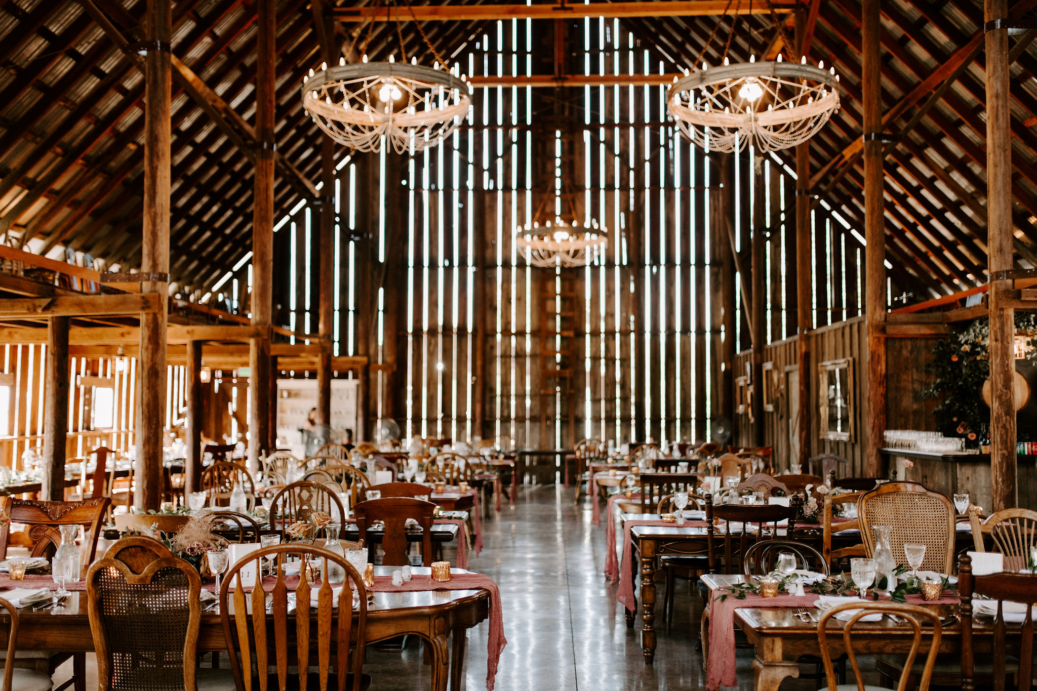 elegant boho wedding reception