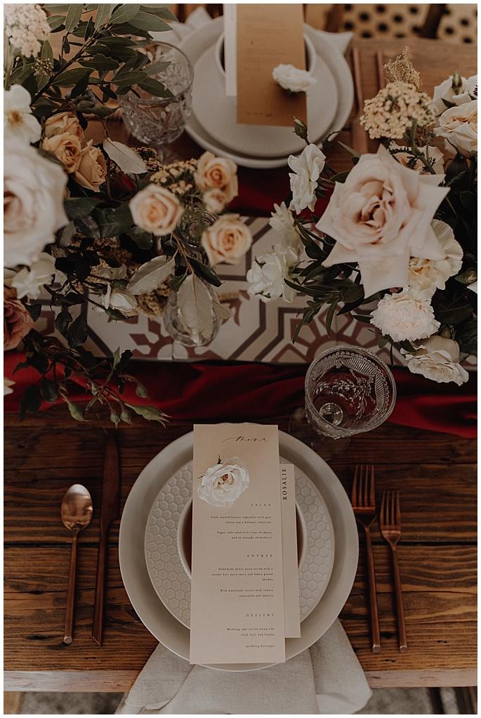 boho table wedding
