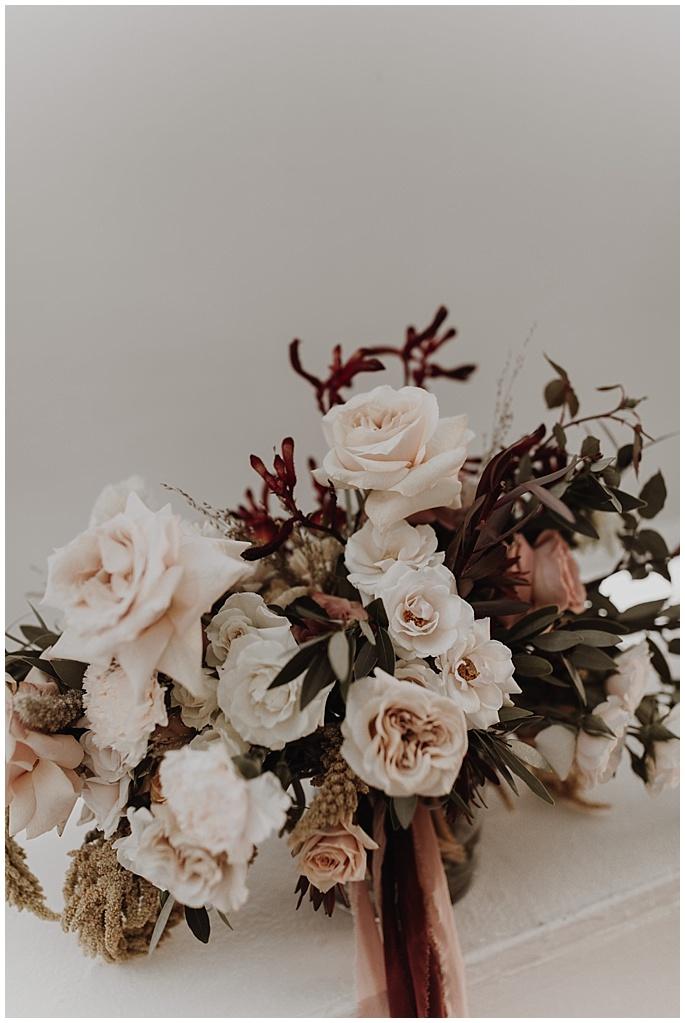 modern boho bridal bouquet