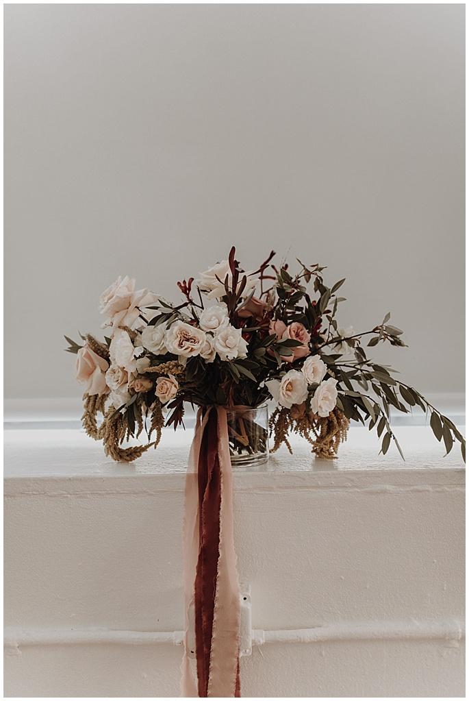 romantic boho bridal bouquet