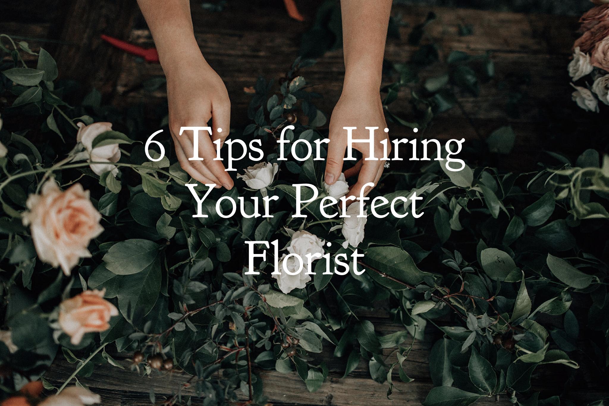 hiring a florist