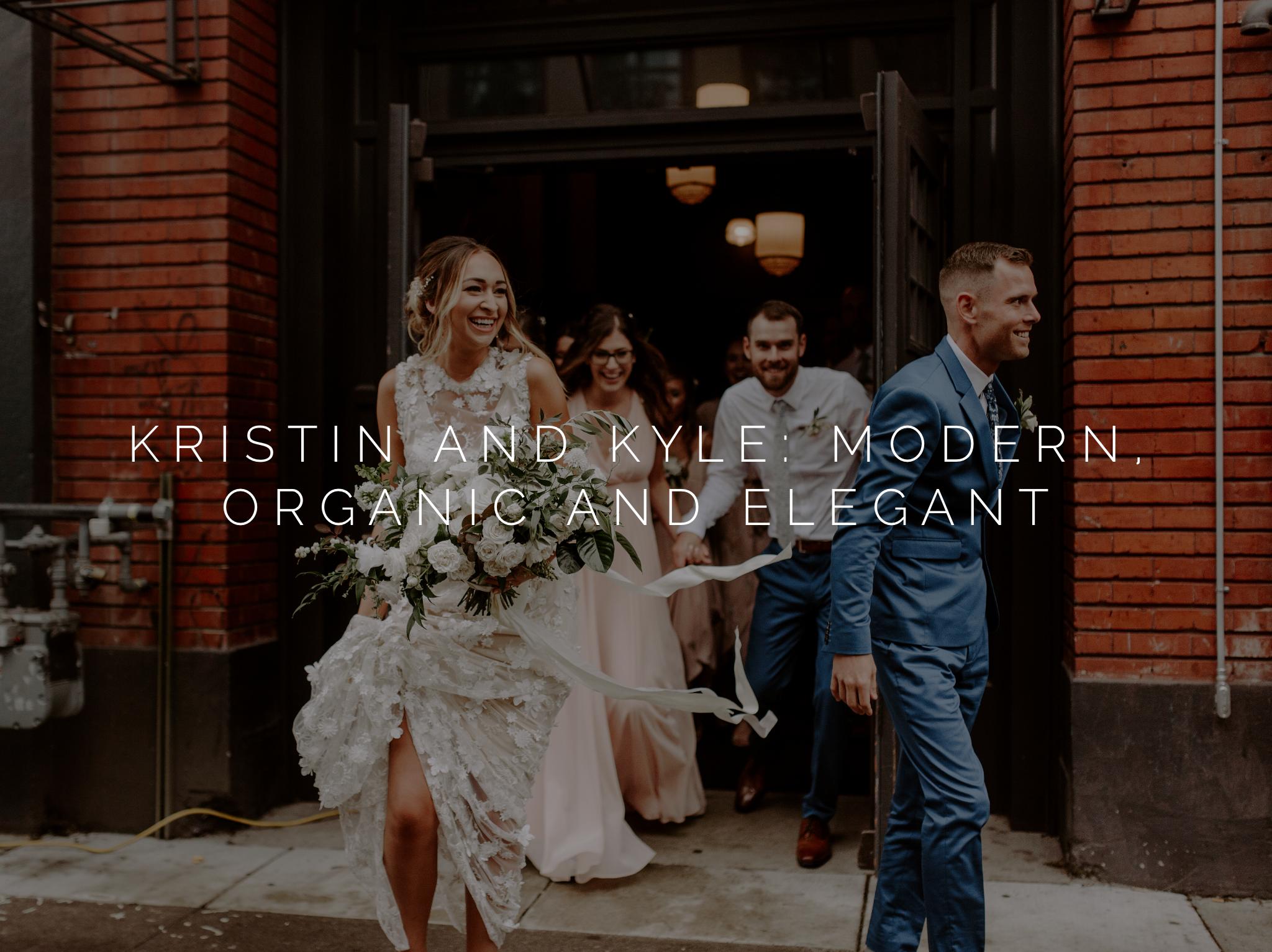 modern organic winter wedding