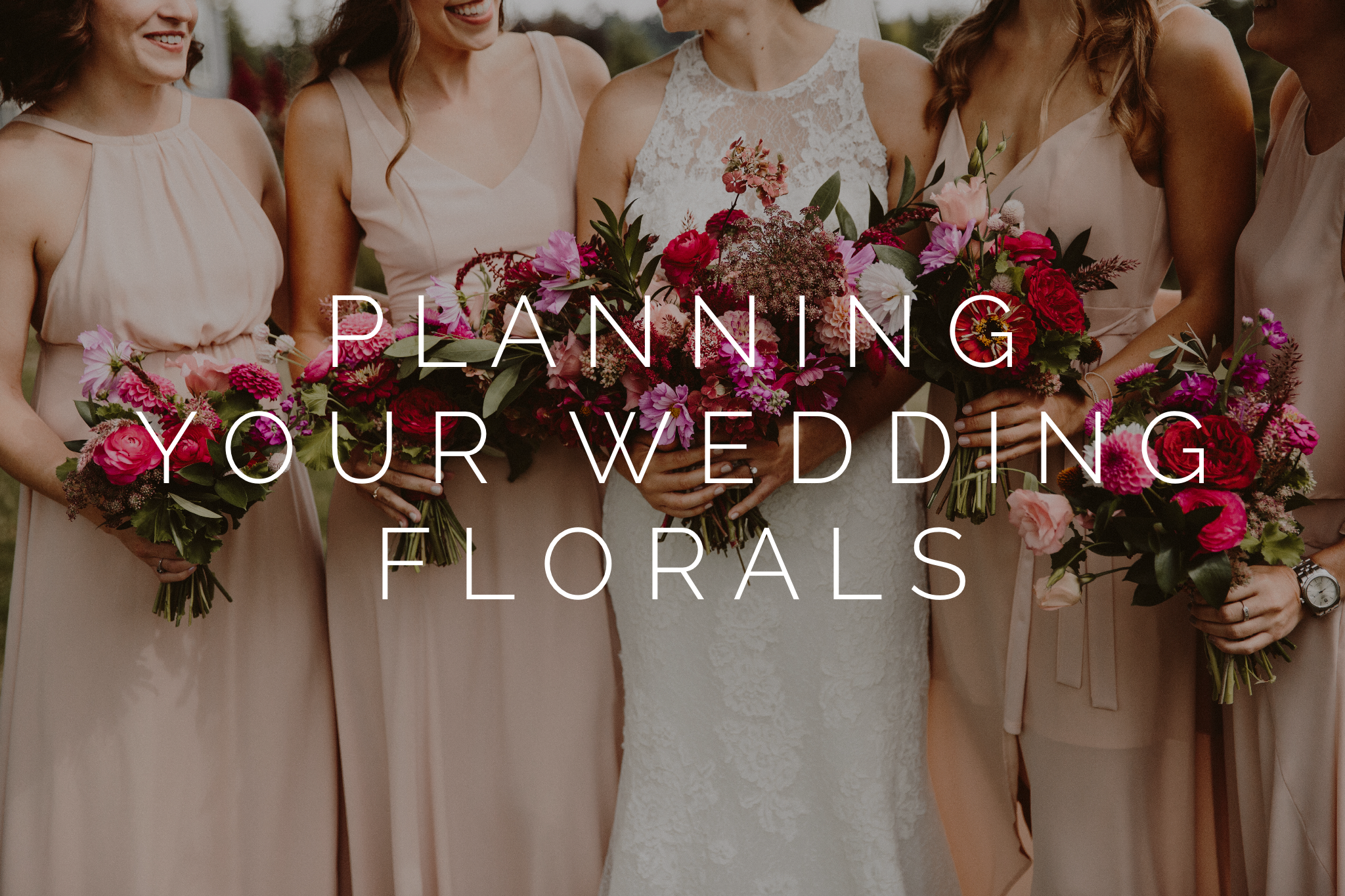 planning designing wedding flowers