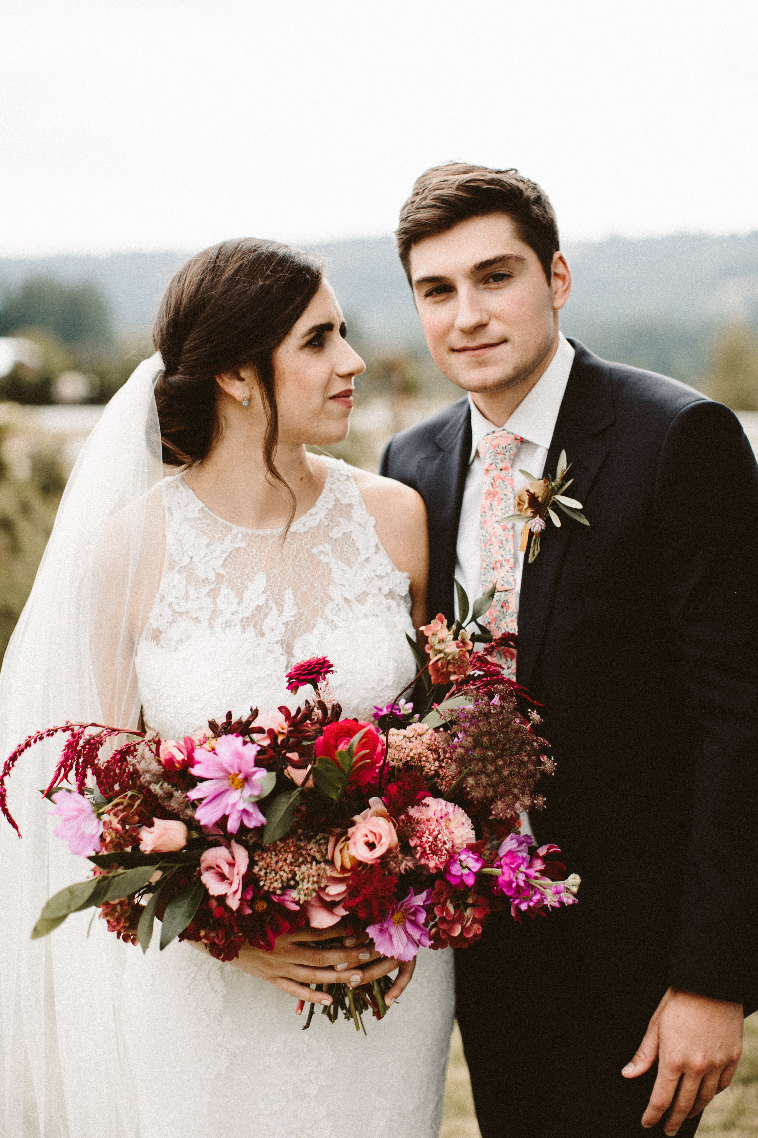 wild flower bouquet portland wedding florist