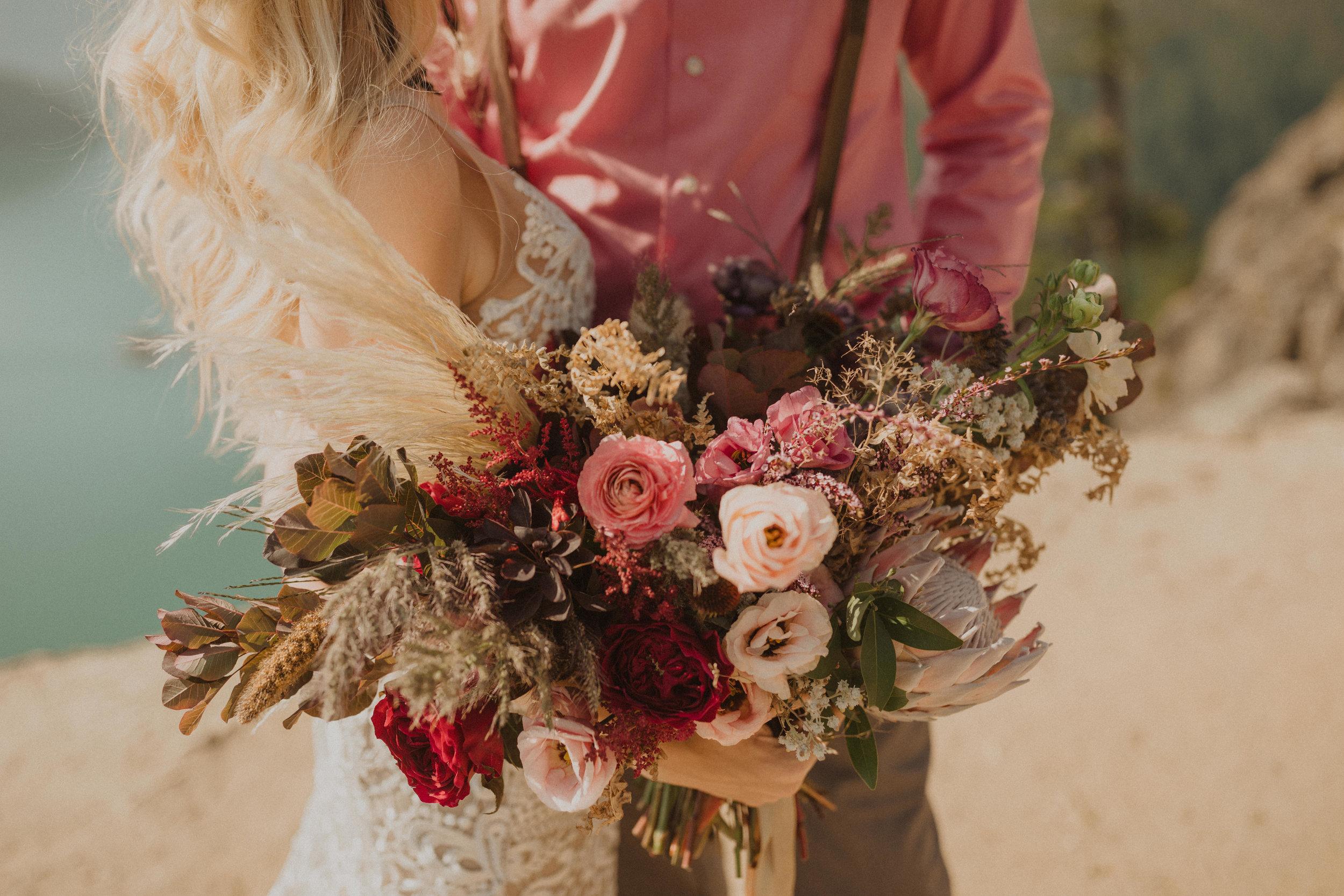 boho bouquet portland wedding florist