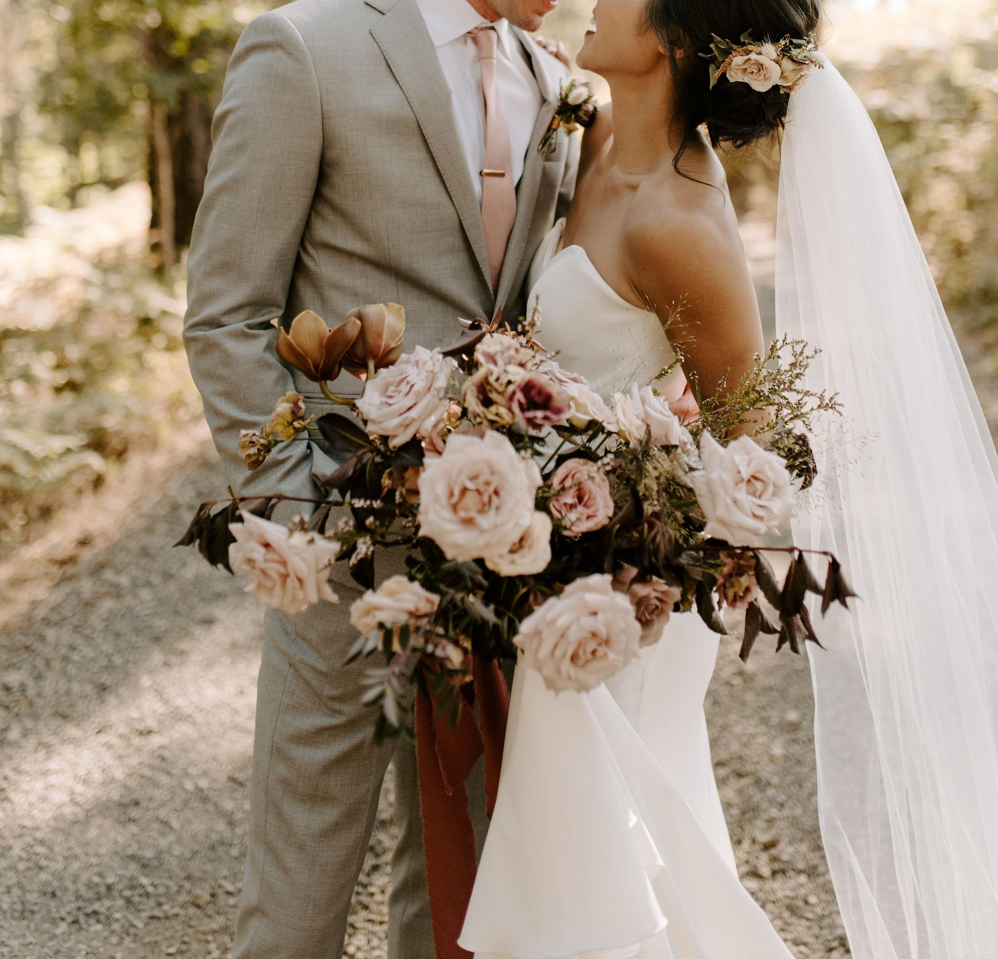 romantic bouquet portland wedding florist