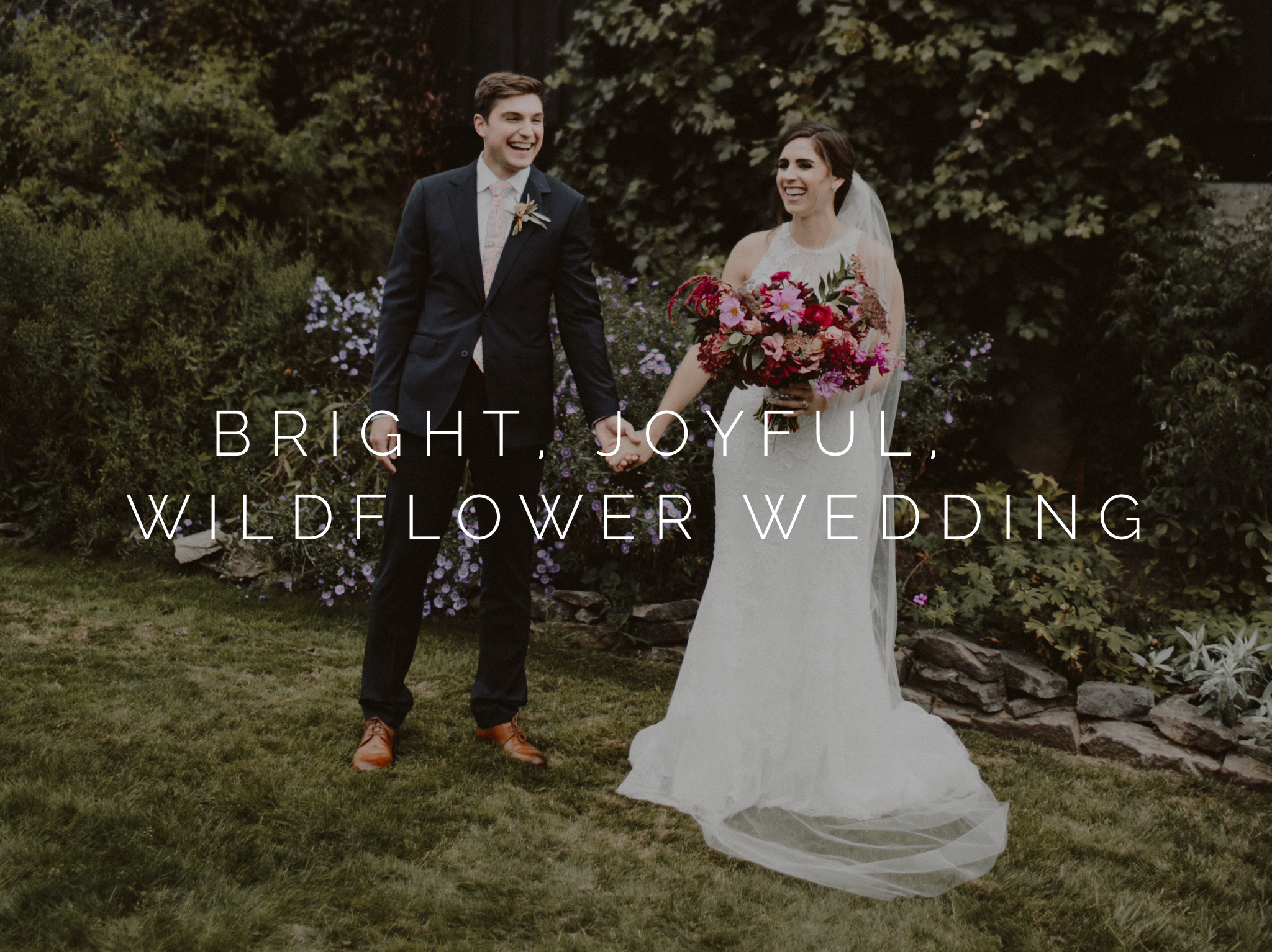 bright joyful wildflower wedding