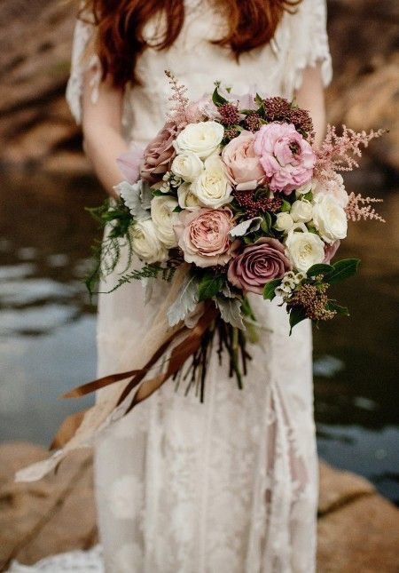 vintage wedding bouquet portland wedding florist