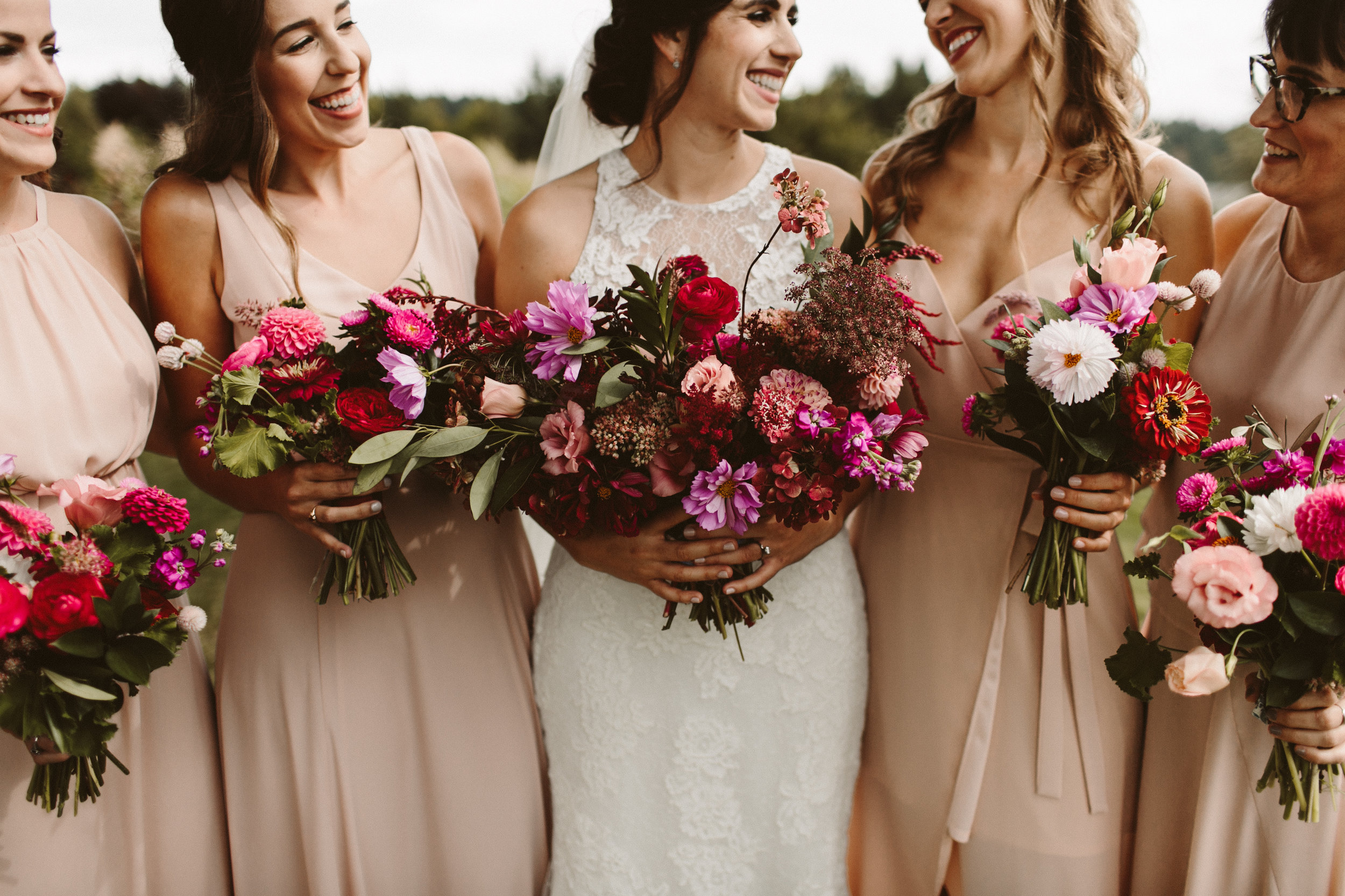 whimsical bridal bouquet portland wedding florist
