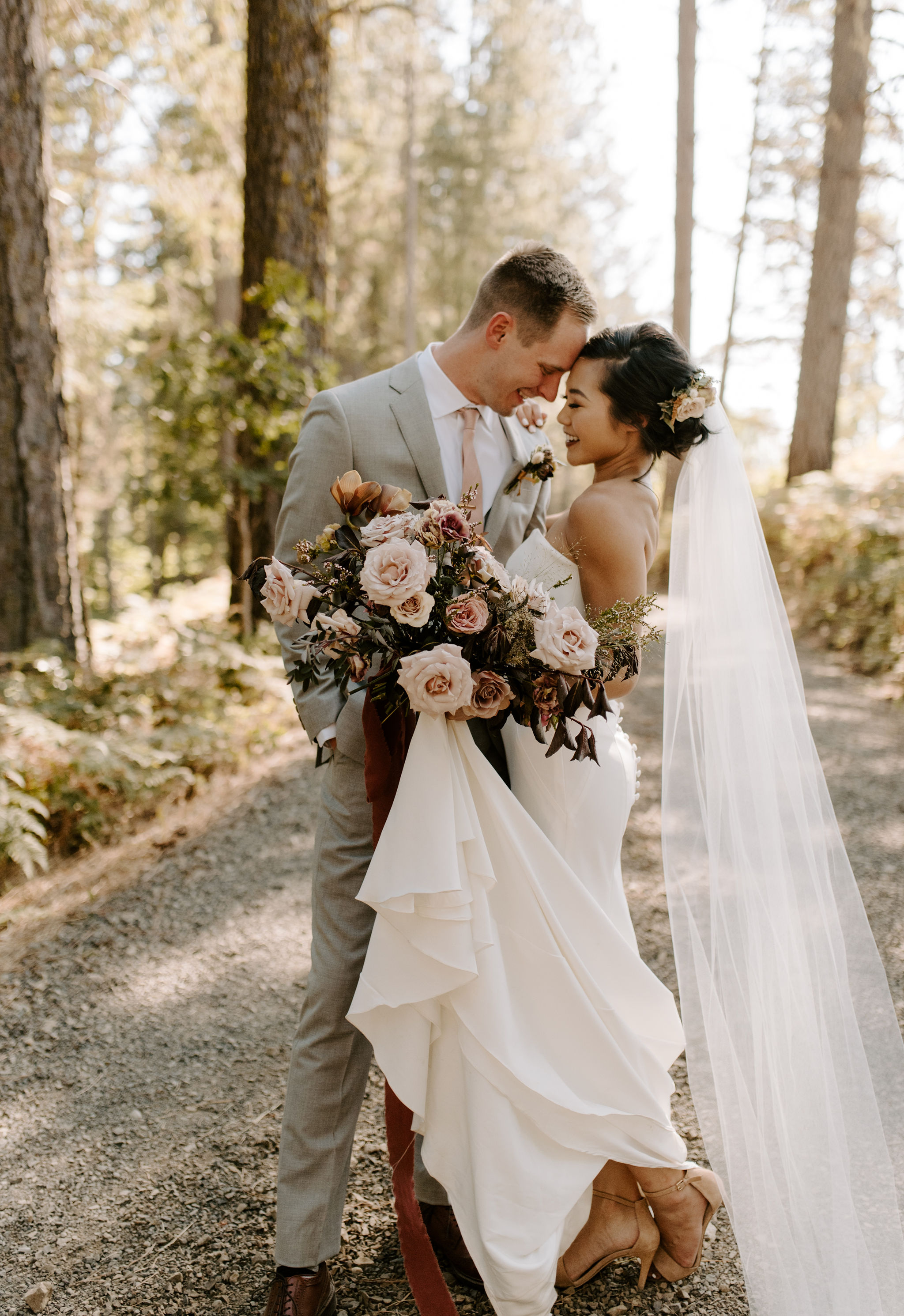 romantic bridal bouquet portland wedding florist