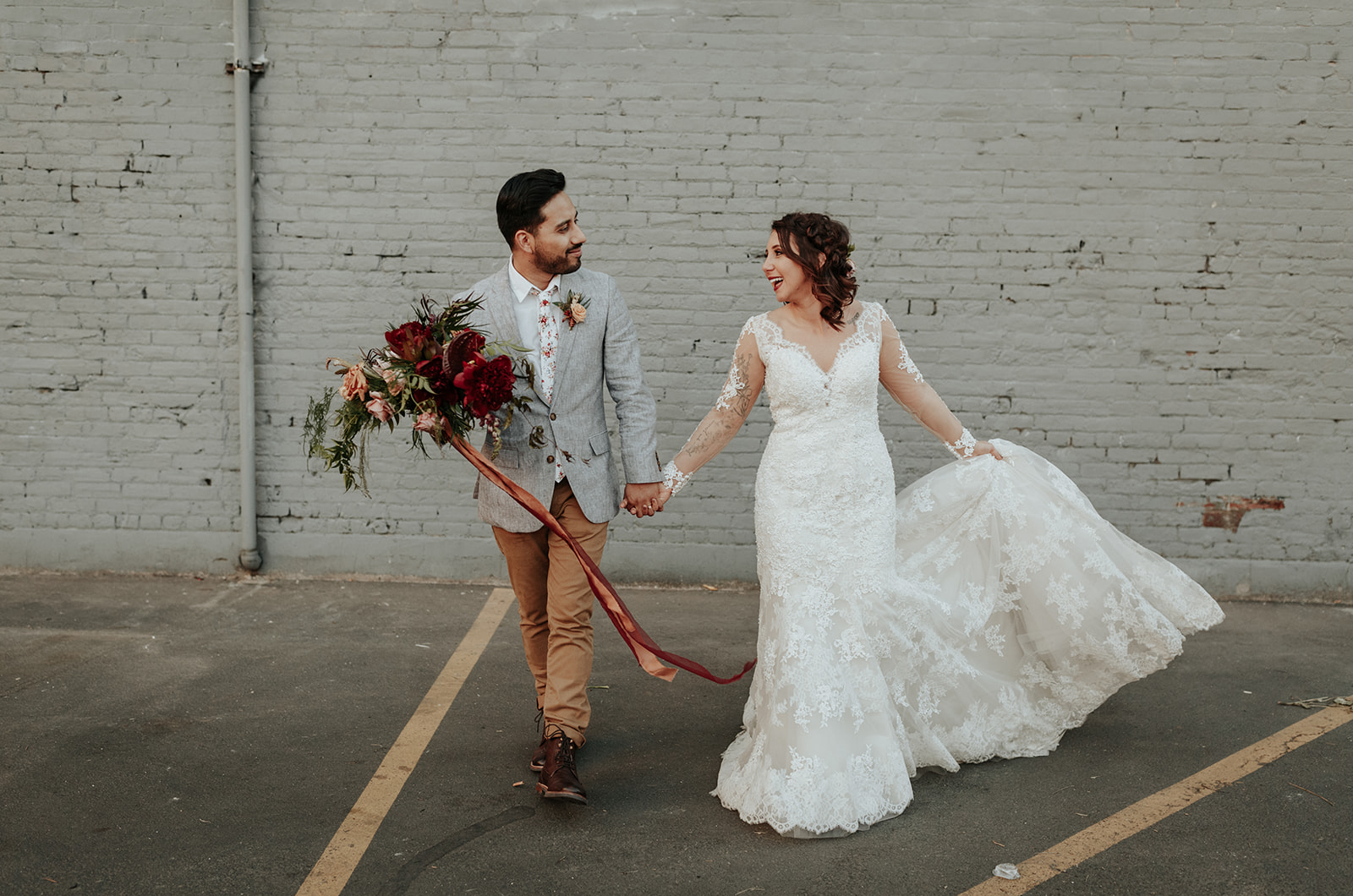intimate, lush, unique, boho potland wedding