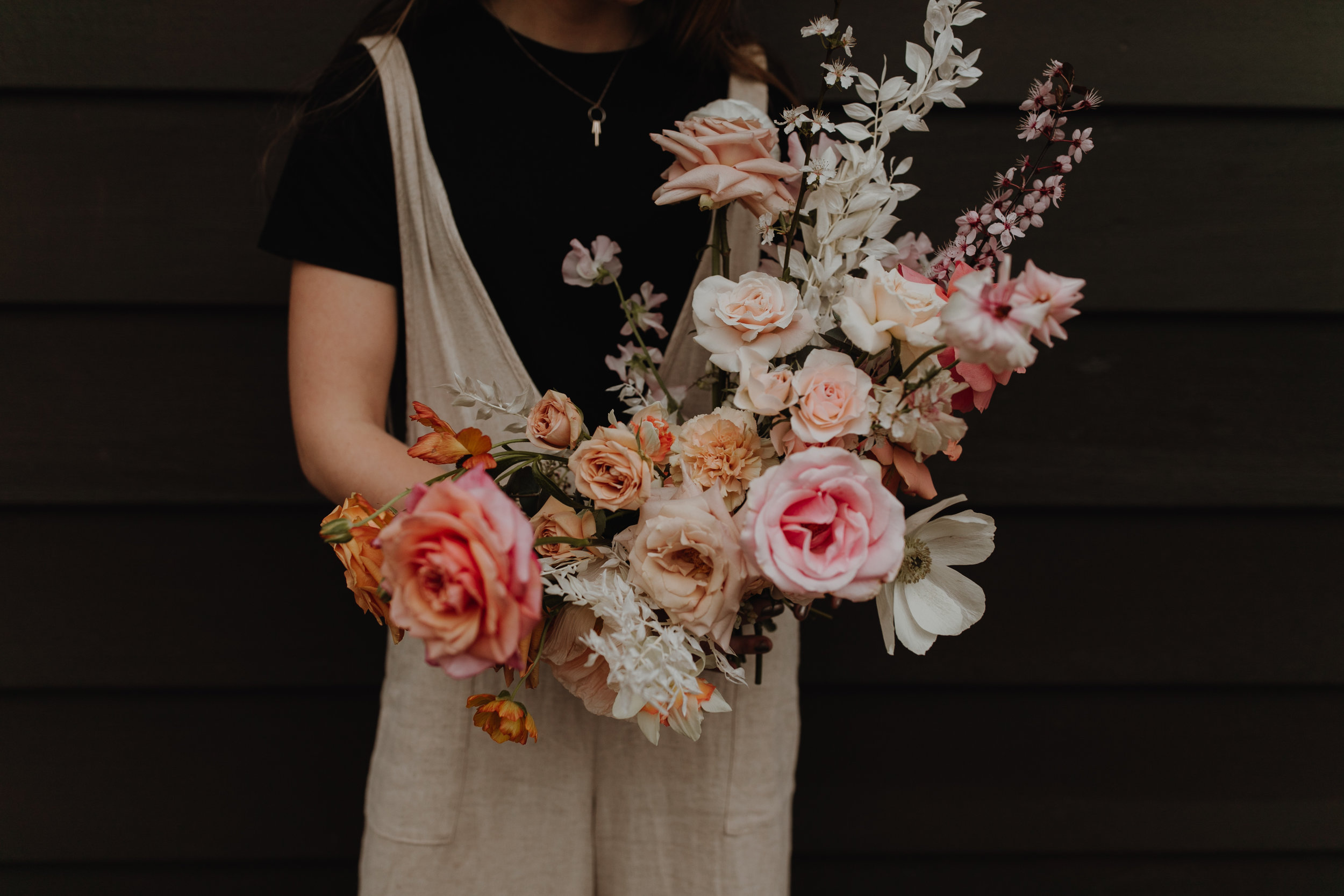 romantic bridal bouquet portland Austin wedding florist