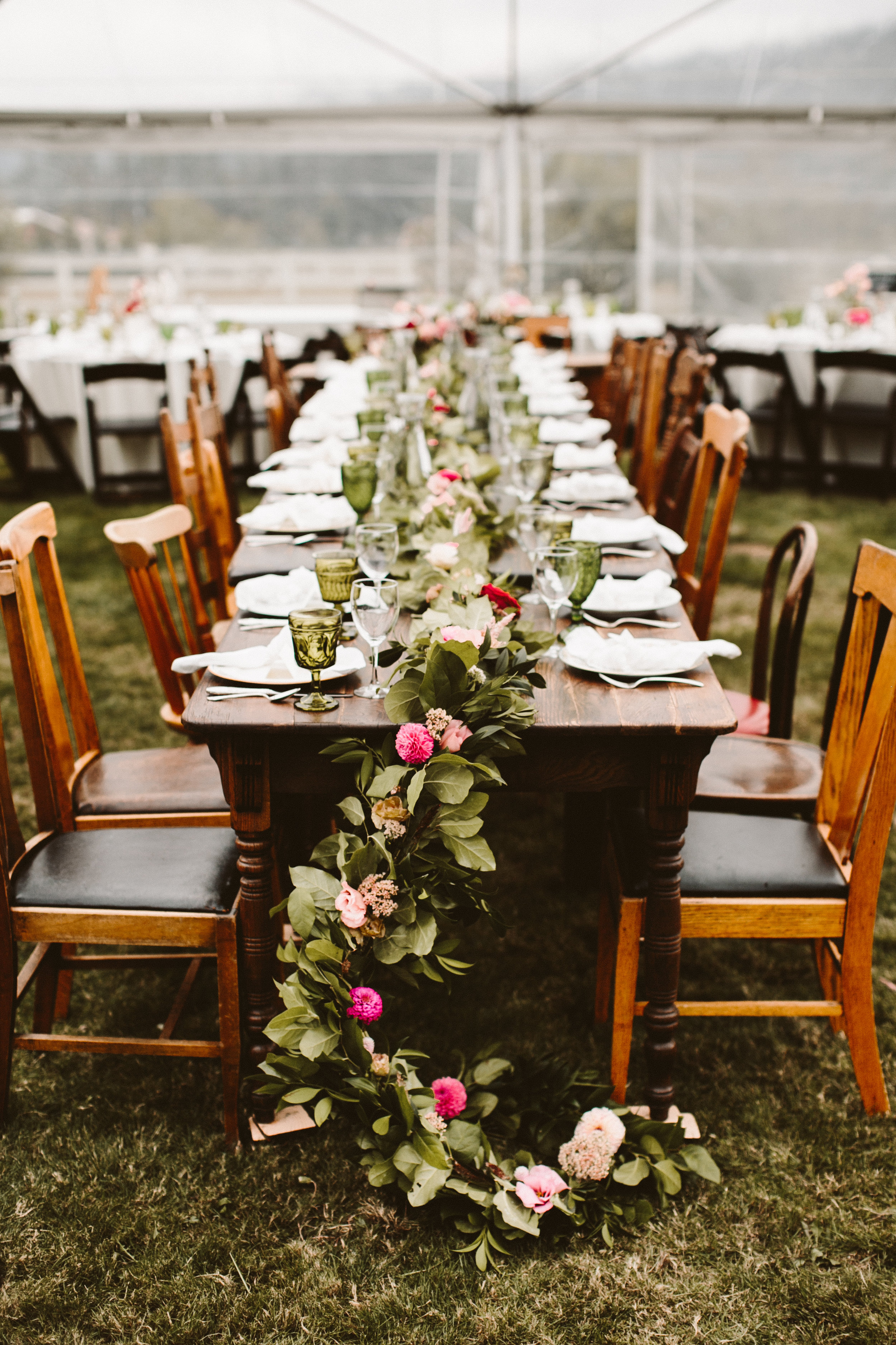 table garland | portland florist | austin florist | Oregon florist