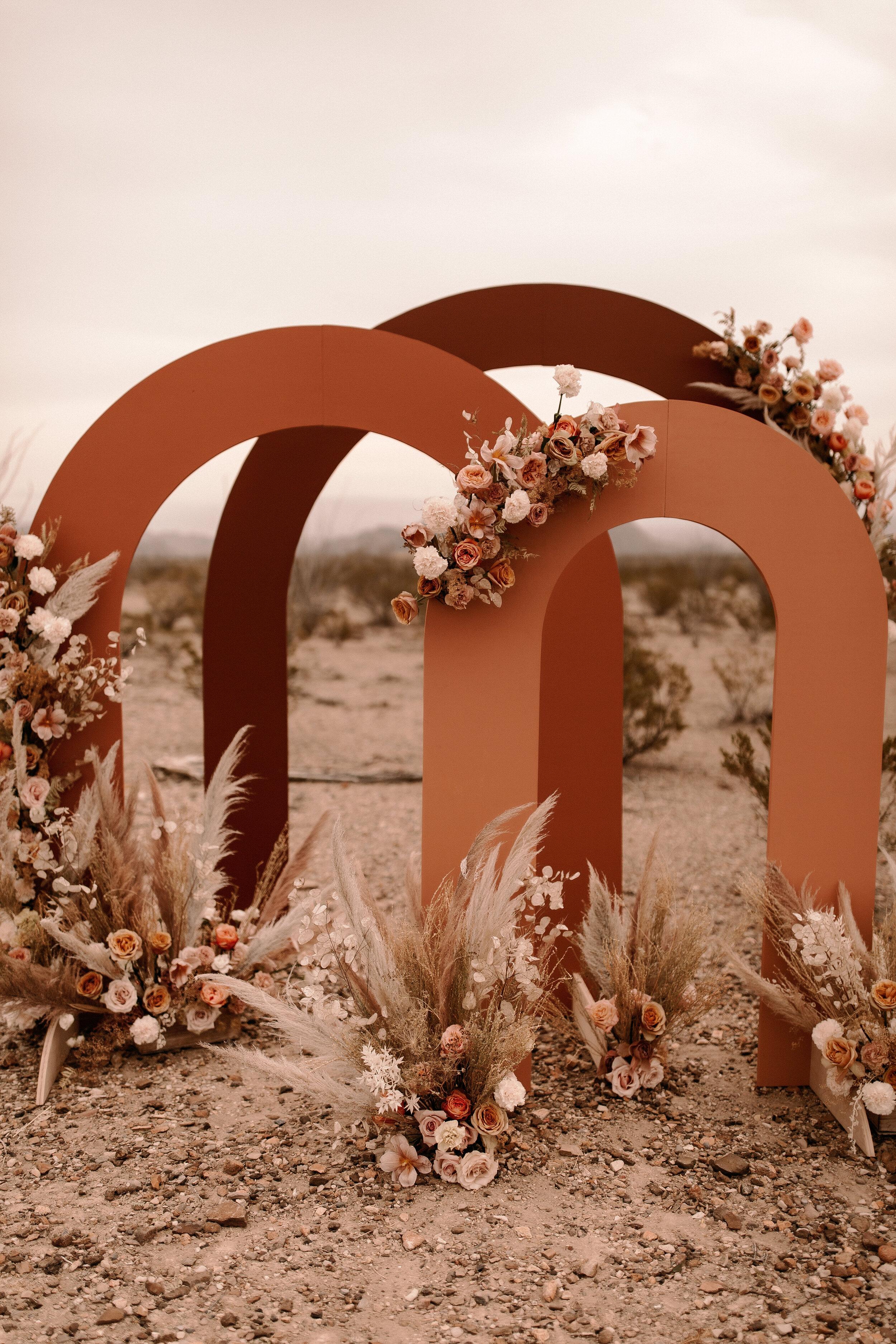 Austin Florist Flower Installation Boho Wedding