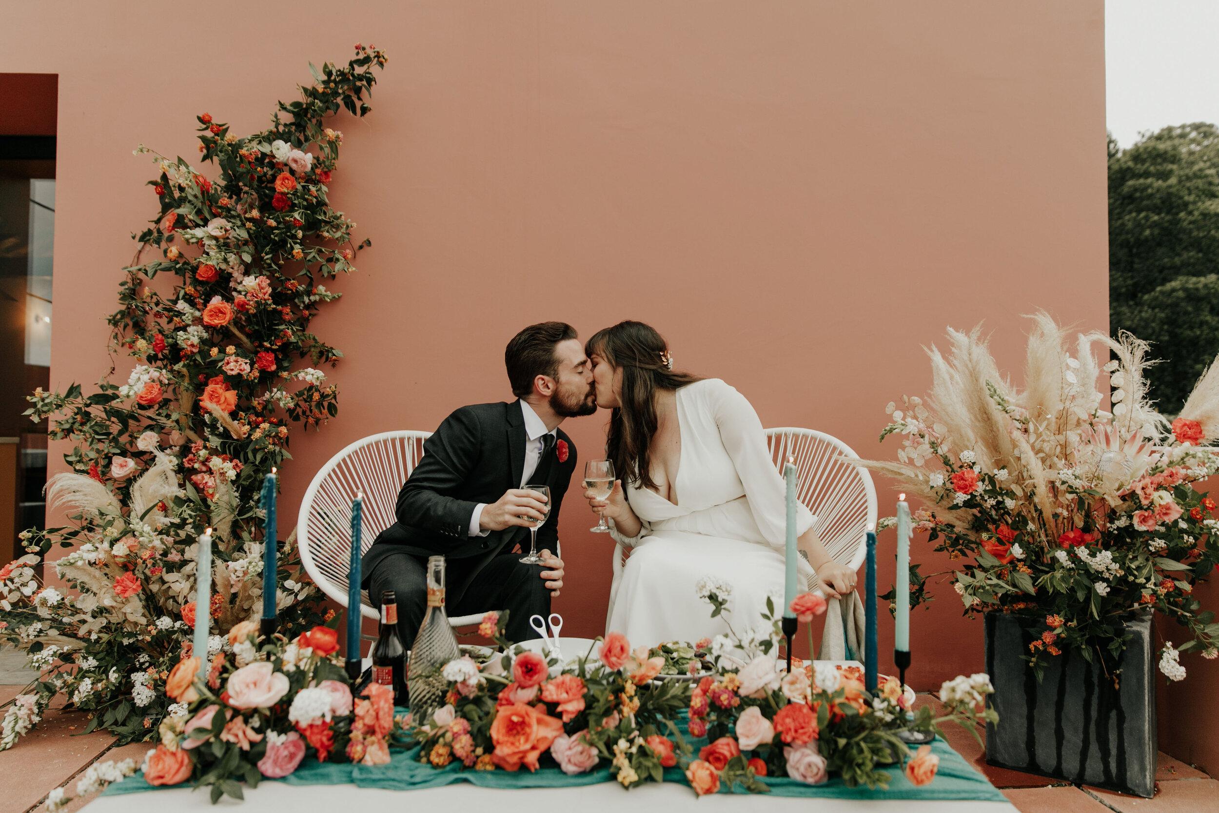 bright lush island portugal elopement