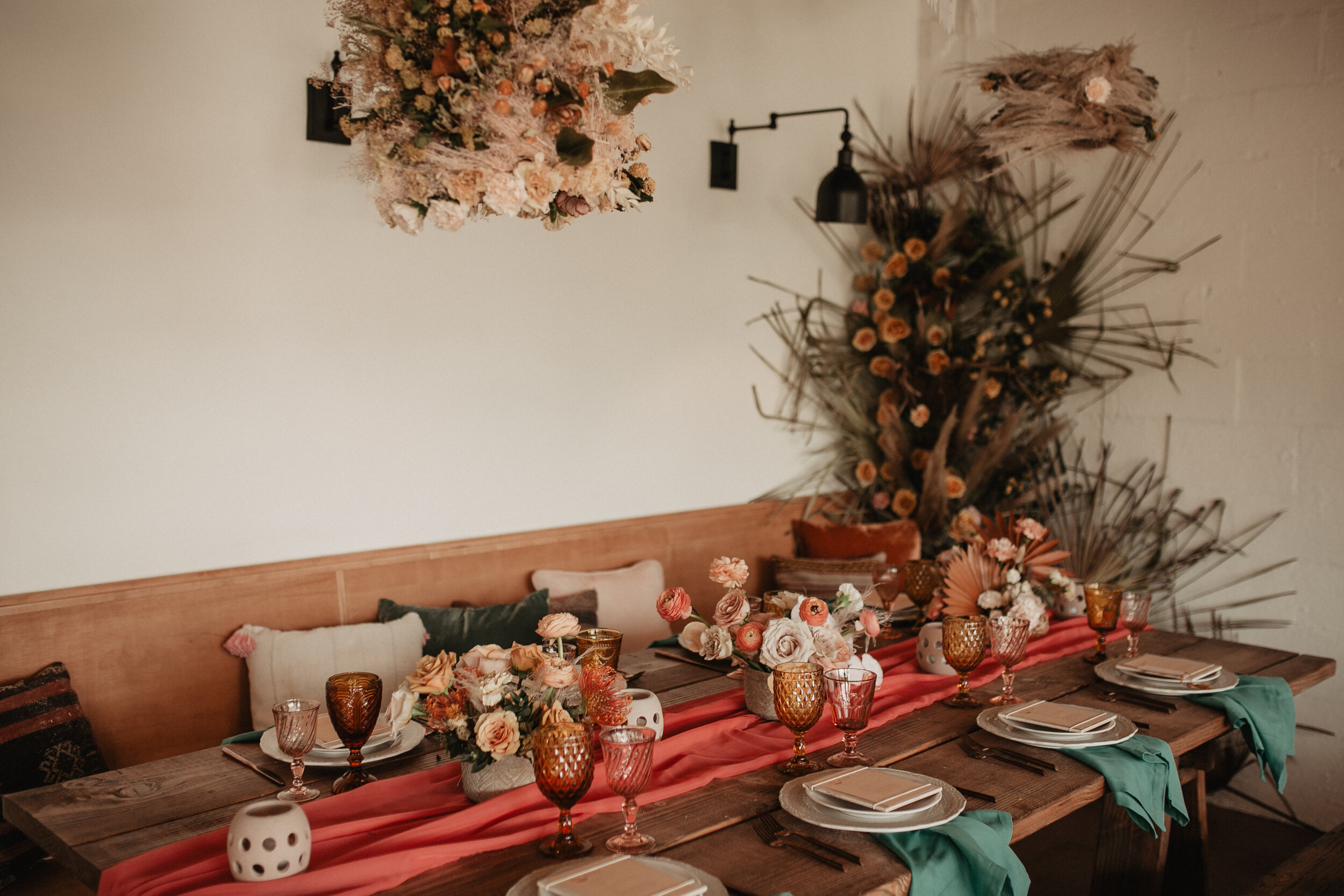 fun bright whimsical textural fiesta | austin florist