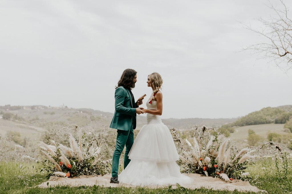 unique, floral filled gorgeous italian elopements