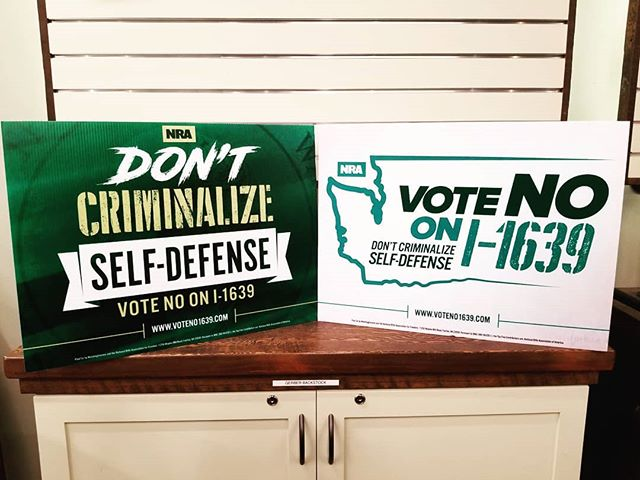 We just recieved another batch of No on I1639 yard signs. Get 'em while you can! #Shootatsafefire #Camas #2A ⠀ .⠀ .⠀ .⠀ .⠀ #SafeFire #Washington #PNW #america #Shootingrange #pewpew #glock #9mm #rifle #pistol #ar15 #AR #tactical #ammo #dailygundose #gunsdaily  #indoorshootingrange #vote #noon1639 #i1639 #votenoon1639 #nra #sign #yardsign #initiative1639
