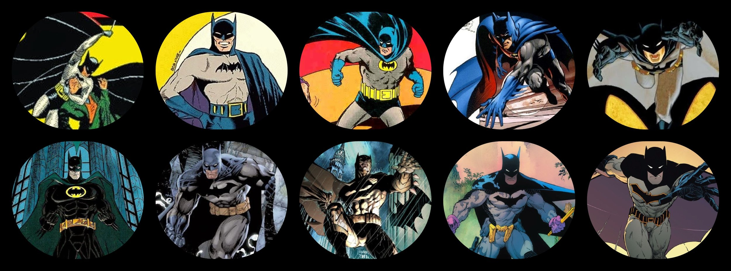 The evolution of comics through the images of Batman